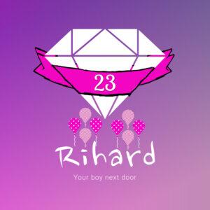 Logo Bday Rihard 4096 X 4096